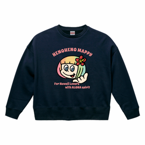 HENOHENO MAPPY MAIN  big silhouette sweat NAVY