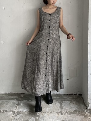 """ETIDENCE""vintage lace up dress"