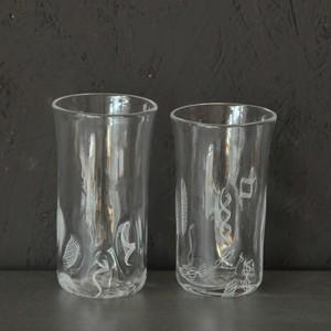 アキノヨーコ レースパーツ冷酒グラス