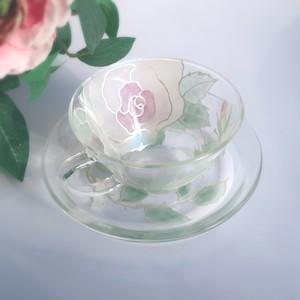 【母の日プレゼント】フランスの薔薇アンティークローズのティーカップ&ソーサ1つ/母の日ギフト・誕生日プレゼント