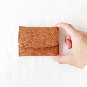 Leather card case : camel