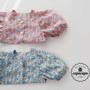 «sold out» button flower blouse 2Colors フラワーブラウス