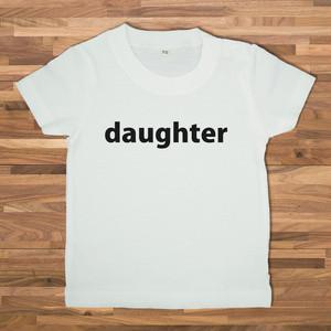 【ベビー】DAUGHTER Tシャツ/ホワイト【CWE-041WHB】