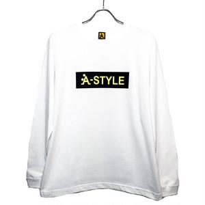 ★A-STYLE BOXロゴロングスリーブTシャツ★WHITE