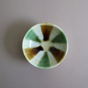 瀬戸本業窯 三彩スープ鉢(大)緑茶白 <日本製・瀬戸>