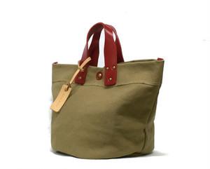 日本製 パルケ 帆布&スペインレザー ハンドバッグ