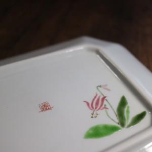 九谷フェスティバル 野花 四角大皿