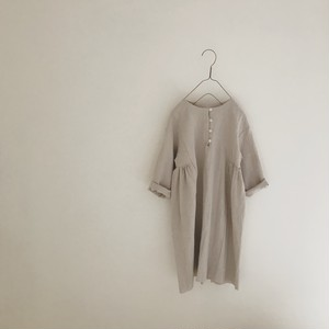 half gather one-piece : gray