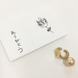 子どもの絵を刻印できるイヤカフ(K18) ~momento