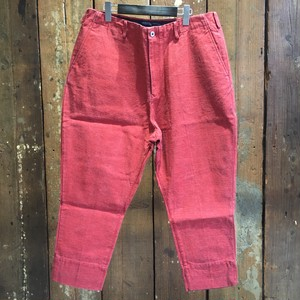 08sircus / red pigment print denim pants