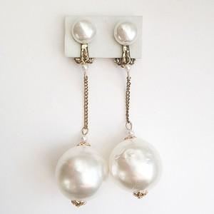 big pearl dangle earring[e-719]
