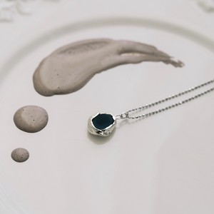 onyx necklace silver
