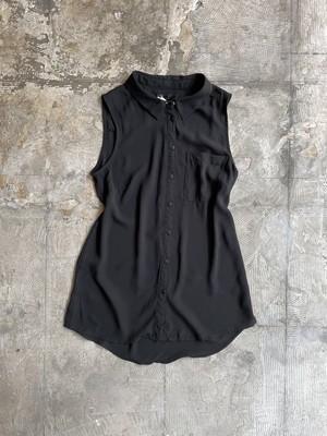 vintage sheer sleeve less shirt