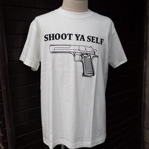 SHOOT YA SELF T-Shirt White / プリント Tシャツ ホワイト