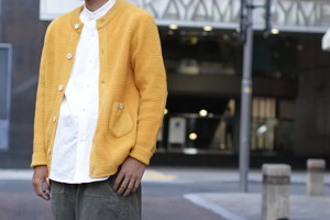 【maillot】patch waffle cardigan