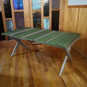 MakuKaku Mid-High Table -LW Green&Gray- (マクカク テーブル  グリーン/グレー)
