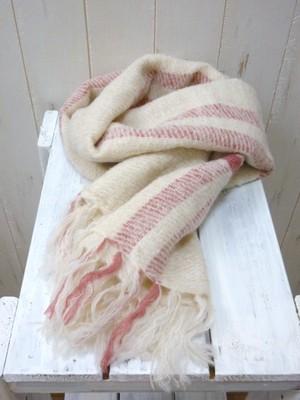 SALE!! Baby Alpaca Stole Cross Stripe/Peru Knit (ベビーアルパカ ストール クロスストライプ/ユニセックス)