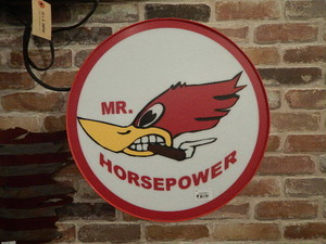 品番1256 ライトサイン MR. HORSEPOWER / Light Sign Round 011