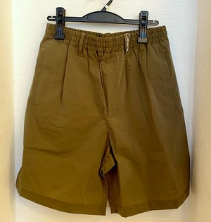 【SALE !サイズ:2のみ】Puckering Super Stretch Nylon Shorts Khaki