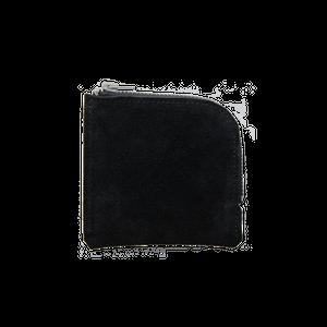 ハーフウォレット TYPE-A ベロア Zip Black / HWA-1D-BKS