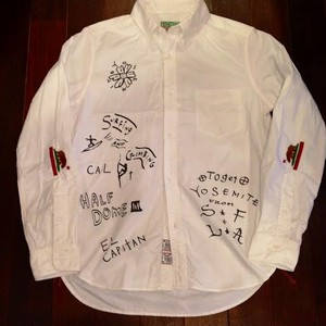"SALTWATER COWBOY / ソルトウォーターカウボーイ | YOSEMITE "" DOODLE Oxford B.D. Shirts / White"