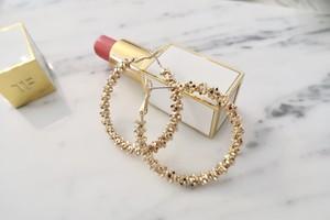 gold sand hoop pierce