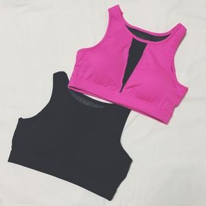 【送料無料◇即納】Fitness Wear♡フロントメッシュスポーツブラ