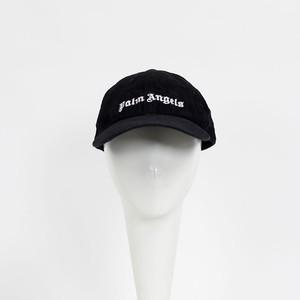 PALM ANGELS Logo Corduroy Cap