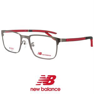 ニューバランス メンズ メガネ nb05161-2 New Balance 眼鏡 男性 ニュー バランス new balance ウェリントン メタル ダミーレンズ付き