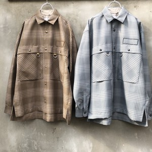 "TAUPE  ""dry check tuck pocket cpo shirt"""