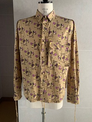 Midorikawa FLOWER CAT DRESS SHIRT