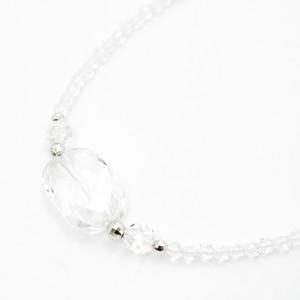 Silver 天然石 ネックレス 水晶 30007-000 NGZ売り切り