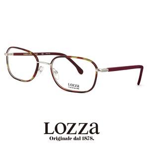 lozza メガネ vl2245l 0579 眼鏡 ロッツァ スクエア メタル コンビネーション フレーム ウェリントン バネ蝶番