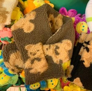 bear muffler 3colors / ベア マフラー テディーベア くまさん くま柄 韓国雑貨