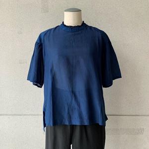 【COSMIC WONDER】Beautiful silk cotton neck lace blouse/13CW01150-2