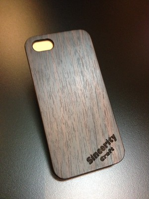 "iPhone5/5s wood case ""コクタン"""