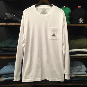 【palace skateboards】-パレススケートボード-SOFAR POCKET LONG SLEEVE WHITE
