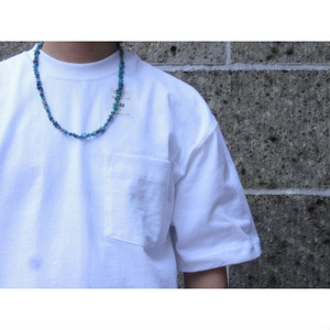 VINTAGE UPCYCLING COMPANY (ヴィンテージ アップサイクリング カンパニー) TURQUOISE NECKLACE 60cm