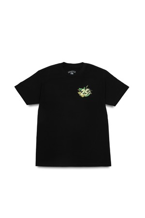 QUARTER SNACKS BOTANICAL SNACKMAN TEE BLACK