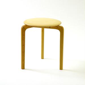 LISCIO スタックスツール(wood) (座面:メープル, 脚:チェリー)