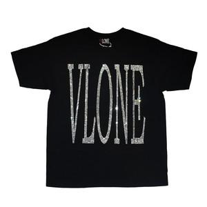 VLONE Rhinestone Logo T-Shirts BLACK