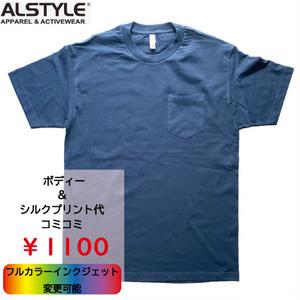 ALSTYLE 6オンス ポケットTシャツ(品番ASTY-T1305 )