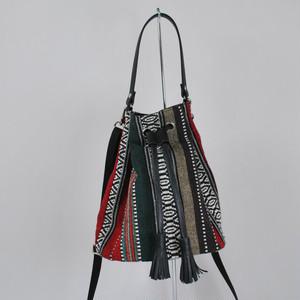 HINEMOSU 帆布×レザー巾着バッグ