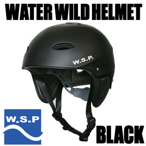 JWBA認定品 超軽量W.S.P.ウォータースポーツ用ヘルメット ブラック