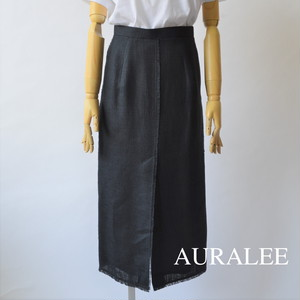 AURALEE/オーラリー ・Linen Double Face Fringe Skirt