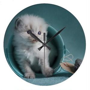 遊んで欲しい子猫・壁時計(イギリスデザイン)