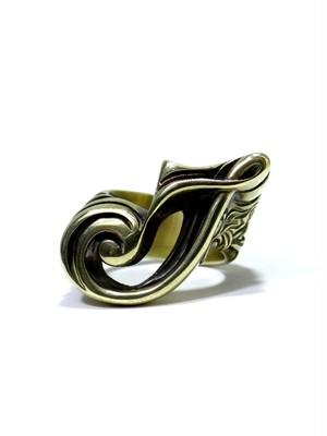alphabet ring#J (Brass ・ 真鍮) -アルファベットモチーフ リングJ-