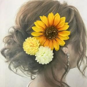 向日葵  髪飾り   11