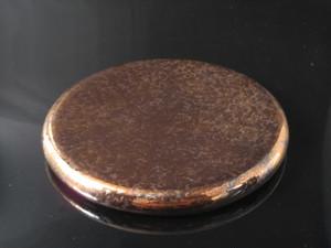 ウロコ銅散19cmサークルプレート