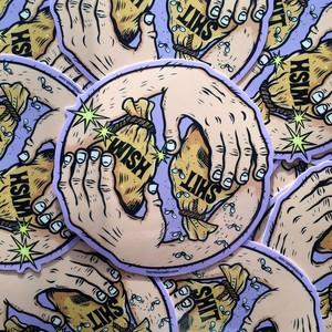 """""""Wish/Shit"""" sticker by burrito breath/Phil Guy"""